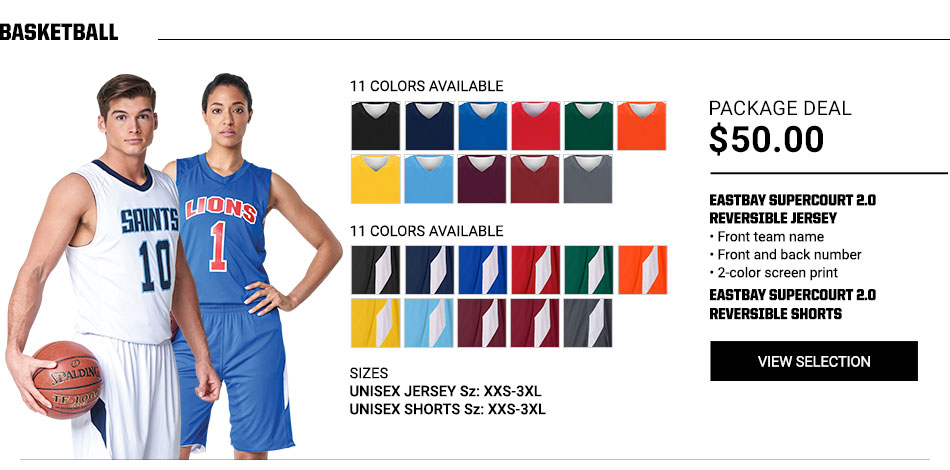 $50 Eastbay Supercourt 2.0 Reversible Jersey Basketball Package Deal