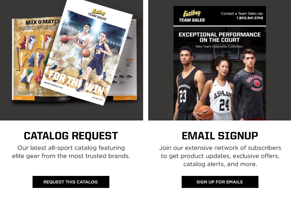 Catalog and Email Sign Up