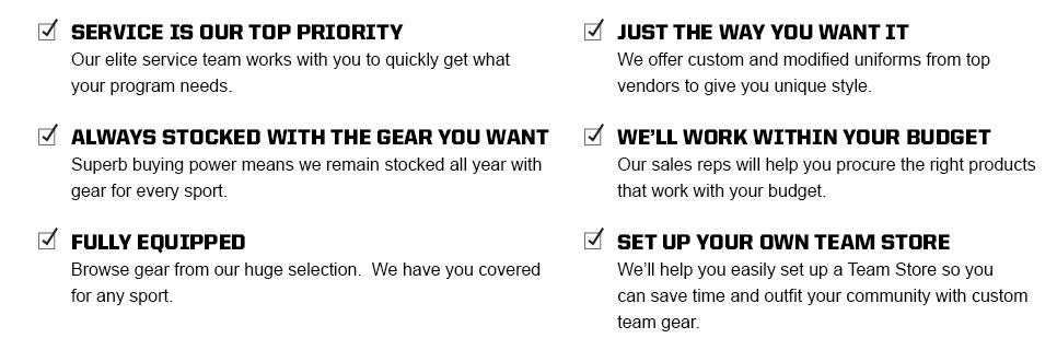 Eastbay Team Sales About Us