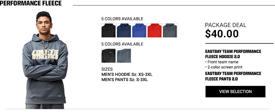 $40 Eastbay Team Performance Fleece 2.0 Package Deal