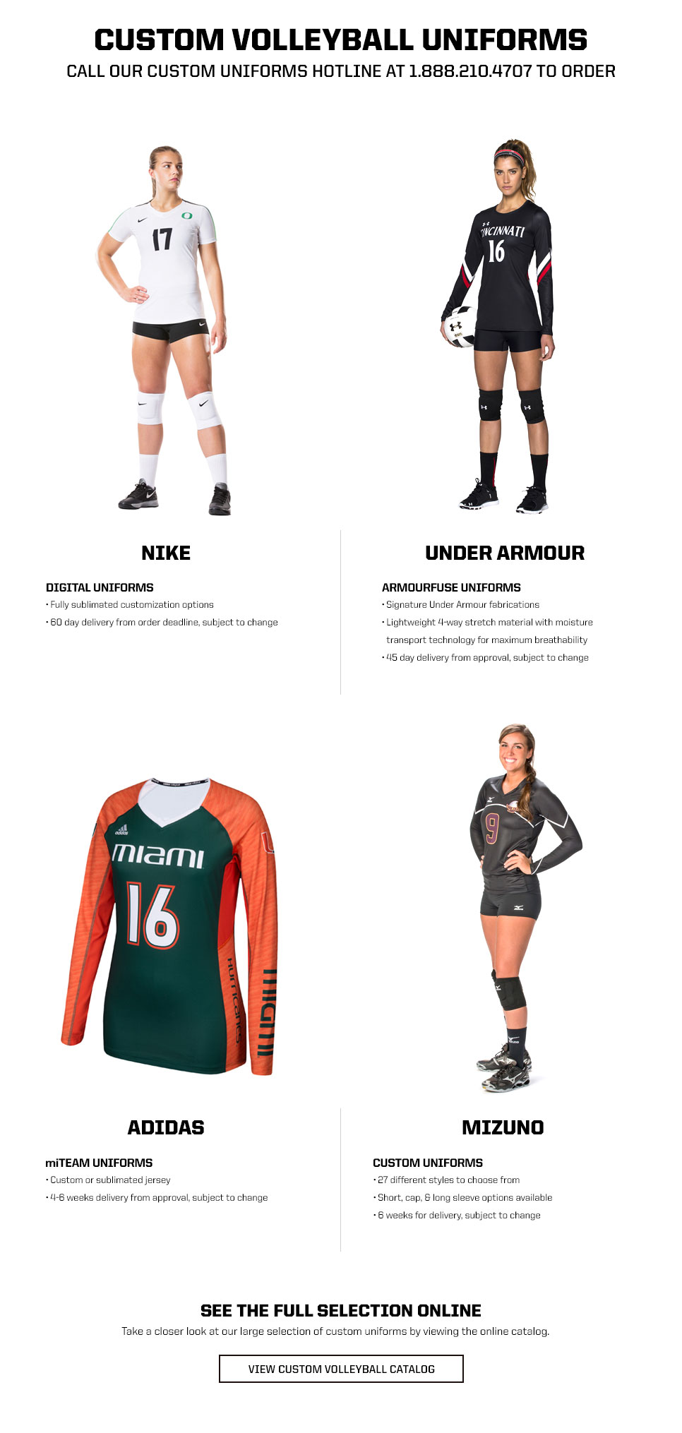 Custom Volleyball Uniform Programs