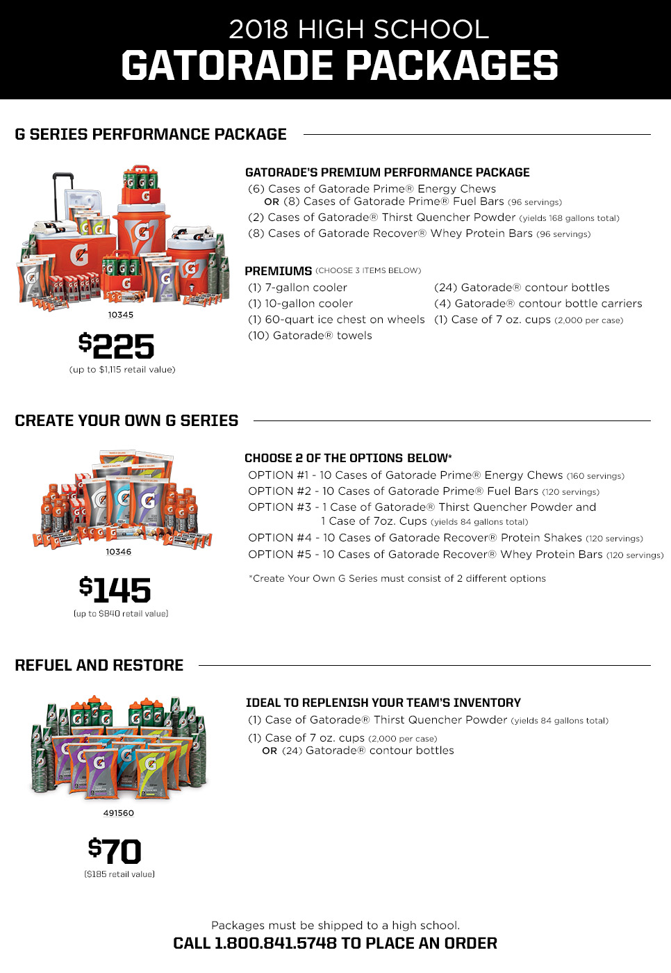 Gatorade Package Deals