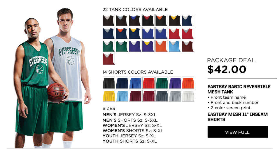 $42 Eastbay Basic Reversible Mesh Jersey Basketball Package Deal