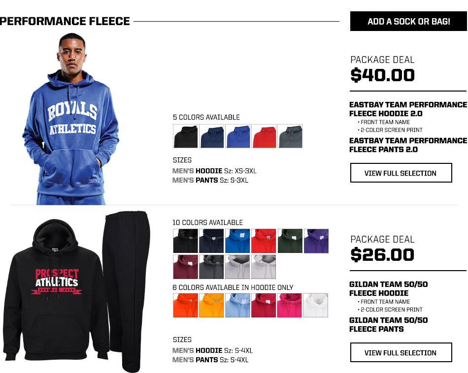 Eastbay package deals