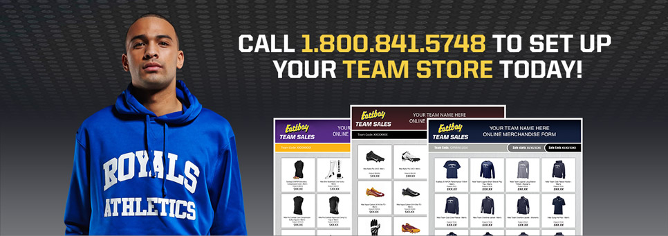 Call 1-800-841-5748 to set up your team store today